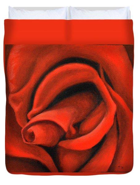 Red Lips Duvet Cover