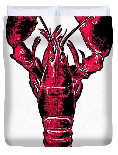 Red Lobster Duvet Cover