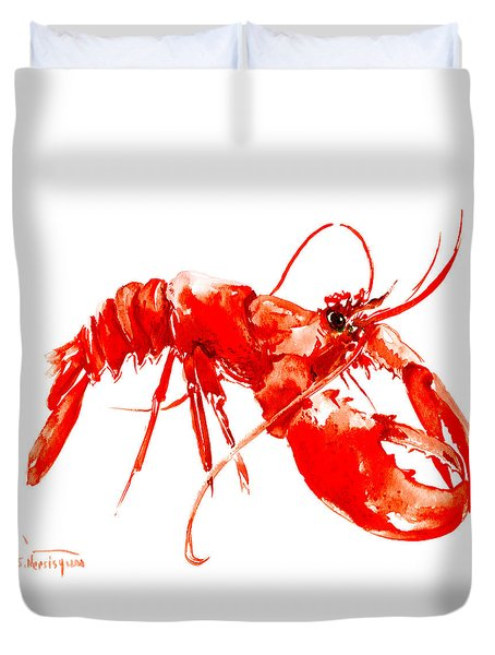 Red Lobster Duvet Cover