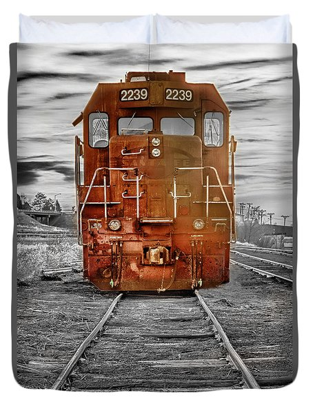 Red Locomotive Duvet Cover by James BO  Insogna