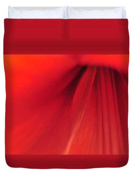 Red Duvet Cover by Mike Martin