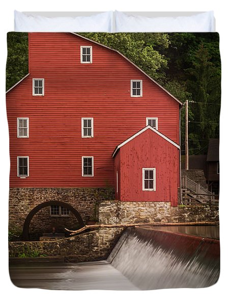 Red Mill Clinton New Jersey Duvet Cover
