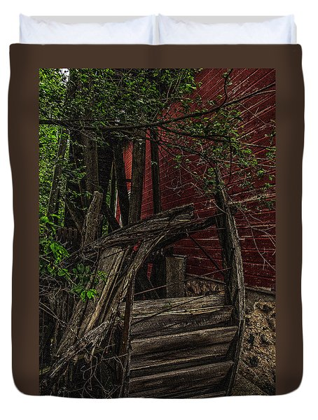 Red Mill Decayed Wheel Duvet Cover
