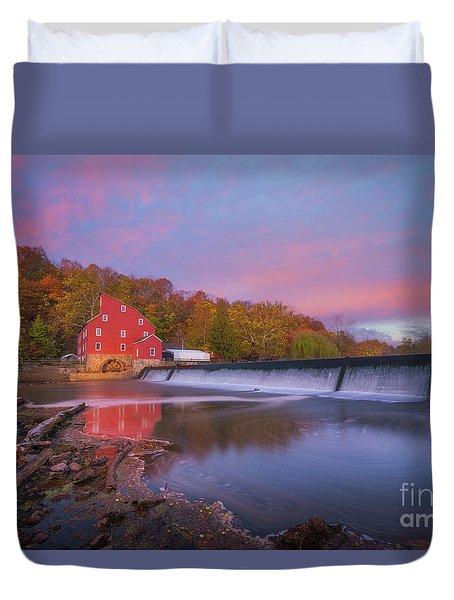 Red Mill Swirls  Duvet Cover