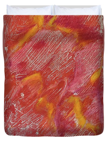 Red Monoprint One Duvet Cover