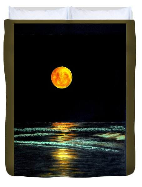 Red Moon Rising Duvet Cover
