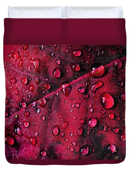 Duvet Cover featuring the photograph Red Morning by Gene Garnace