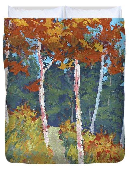 Red Mountain Aspens Duvet Cover