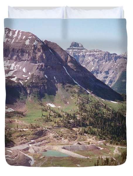 Red Mountain Duvet Cover by Dale Jackson