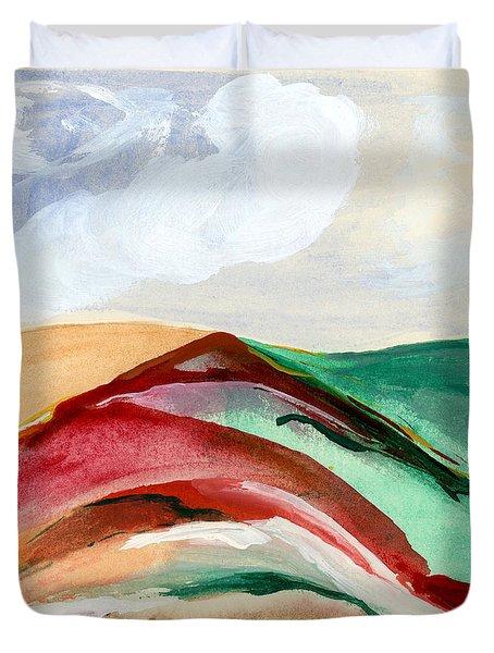Red Mountain Dawn Duvet Cover