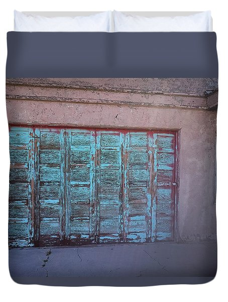 Red Mountain Garage Duvet Cover