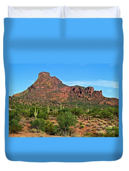 Red Mountain Duvet Cover
