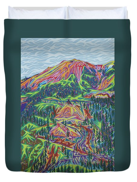 Red Mountain Duvet Cover by Robert SORENSEN