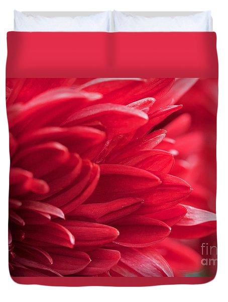 Red Mum Duvet Cover by Jim Gillen