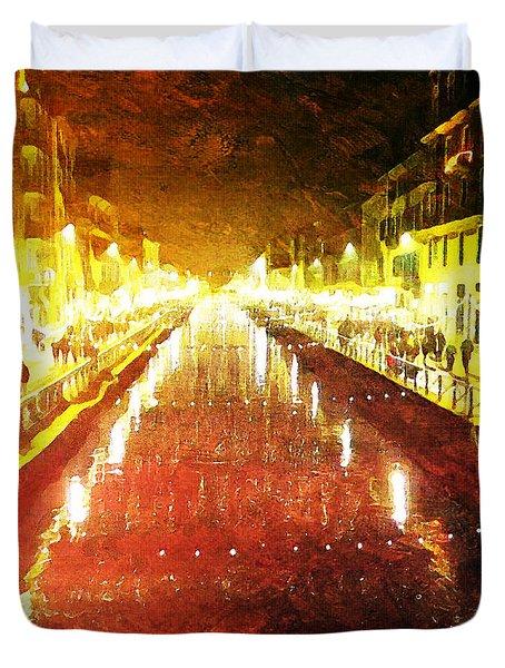 Red Naviglio Duvet Cover