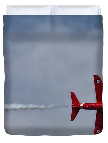 Red On A  Wing Tip Duvet Cover