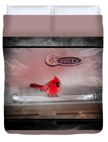 Red On Red Duvet Cover by Ericamaxine Price