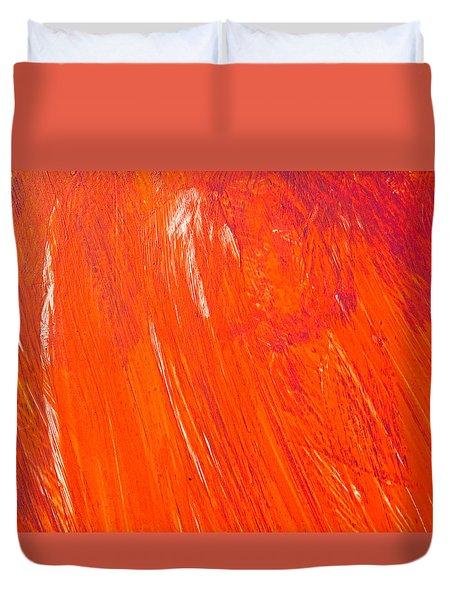 Red Paint Duvet Cover