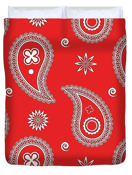 Red Paisley Duvet Cover