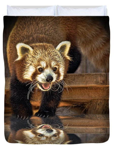 Red Panda Altered Version Duvet Cover