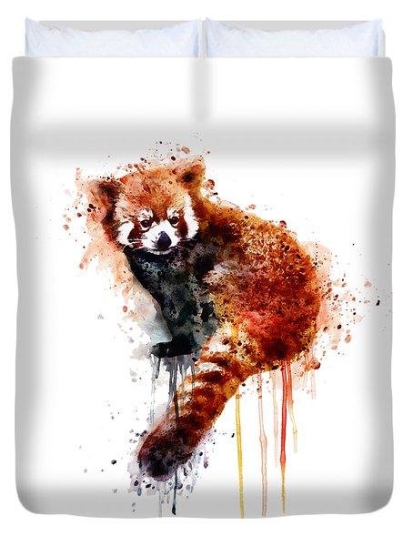 Red Panda Duvet Cover