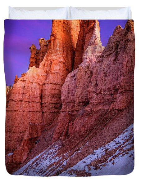 Red Peaks Duvet Cover