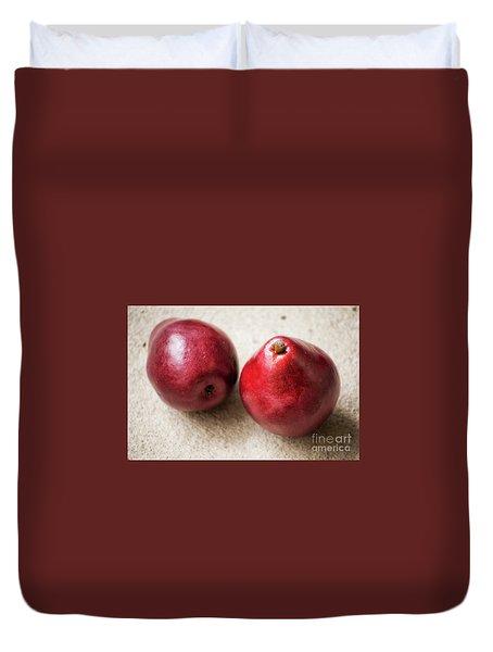 Red Pears Duvet Cover