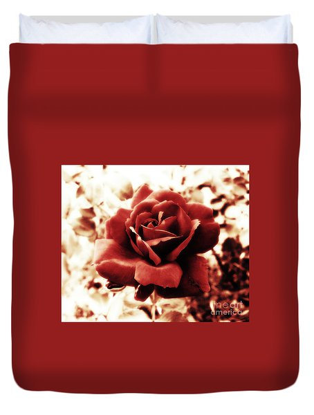 Red Petals Duvet Cover