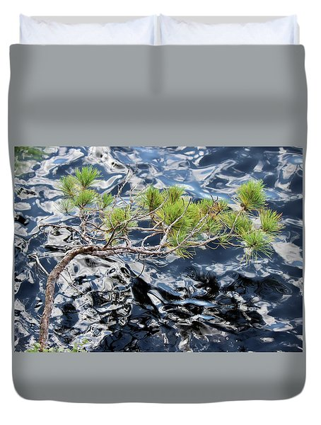 Red Pine Duvet Cover