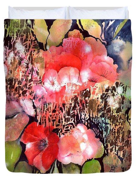 Red Poppy Flowers Duvet Cover