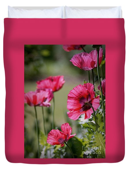 Duvet Cover featuring the photograph Red Poppies by Lisa L Silva