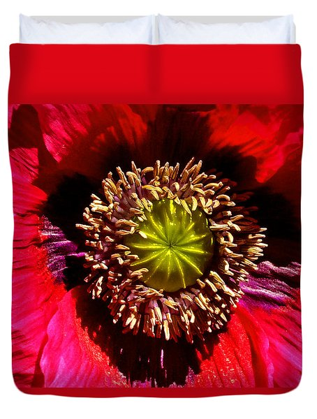 Red Poppy 014 Duvet Cover by George Bostian