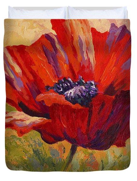 Red Poppy II Duvet Cover