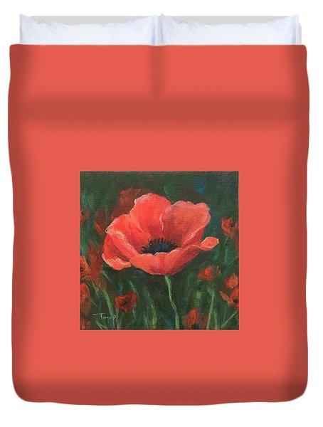 Red Poppy Duvet Cover by Torrie Smiley