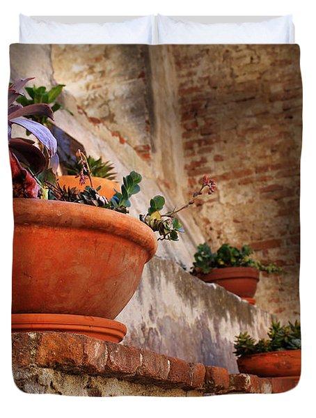 Red Pot Duvet Cover