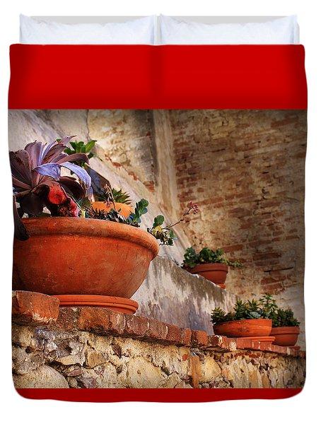Red Pot Duvet Cover
