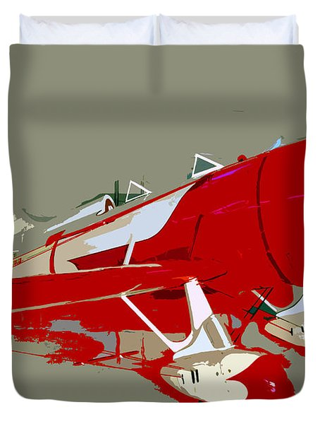 Red Racer Duvet Cover by David Lee Thompson