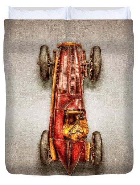 Red Racer Top Duvet Cover