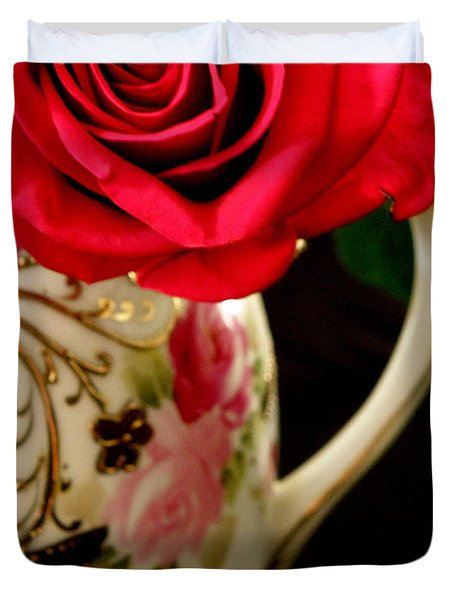 Red Red Rose Duvet Cover by Lainie Wrightson