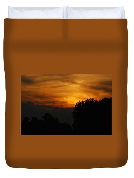 Red Red Sunset Duvet Cover