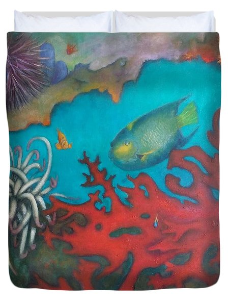 Red Reef Duvet Cover