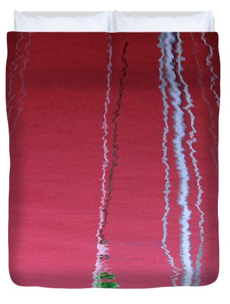 Red Reflection On Water Duvet Cover
