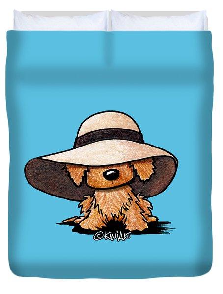 Red Retriever Puppy Duvet Cover