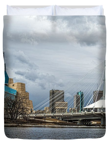 Red River At Winnipeg Duvet Cover