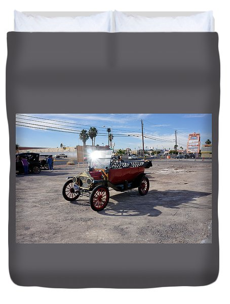 Red Roadster Duvet Cover