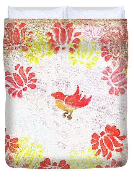 Red Robin Bird Decorative Artwork Duvet Cover