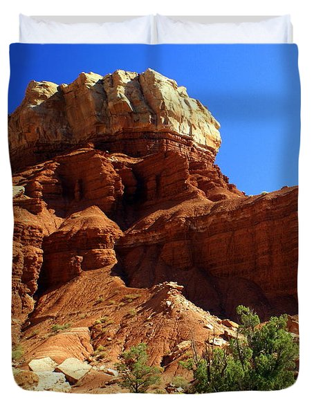 Red Rock 4 Duvet Cover by Marty Koch