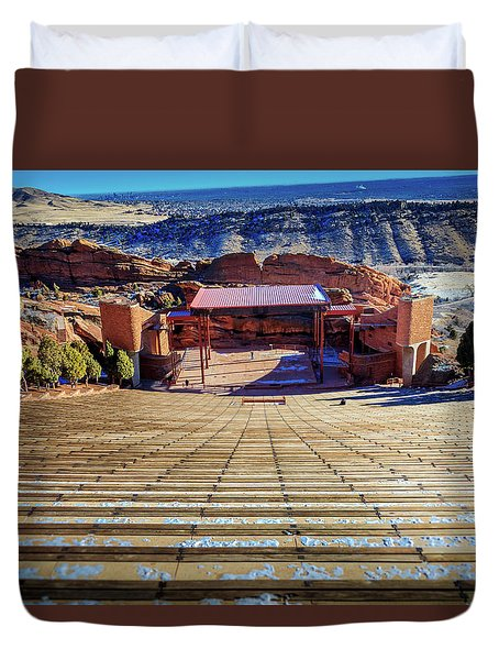 Red Rock Amphitheater Duvet Cover by Barry Jones