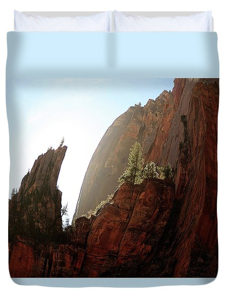 Red Rock At Zion Duvet Cover