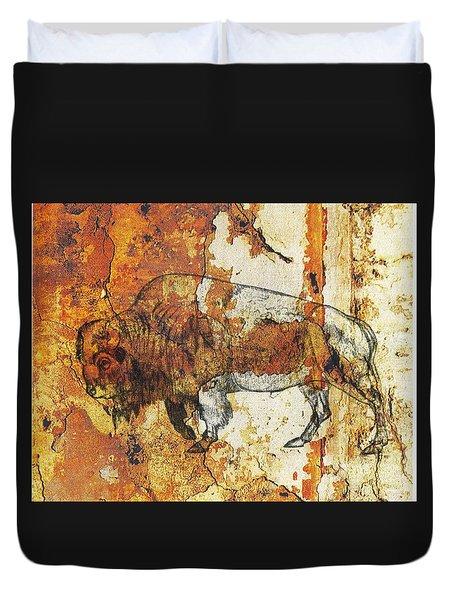 Red Rock Bison Duvet Cover